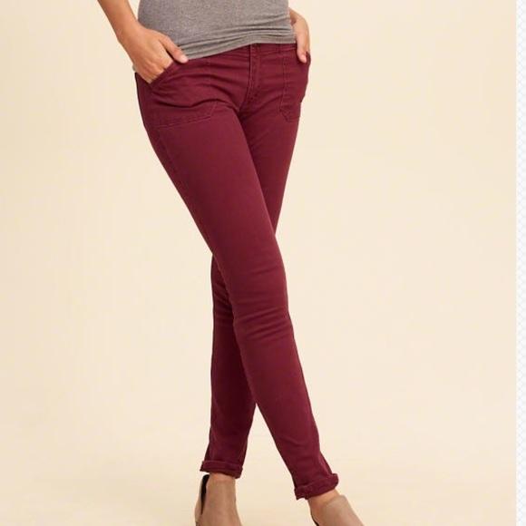 6b4039582227a Hollister Low Rise Super Skinny Twill Pants